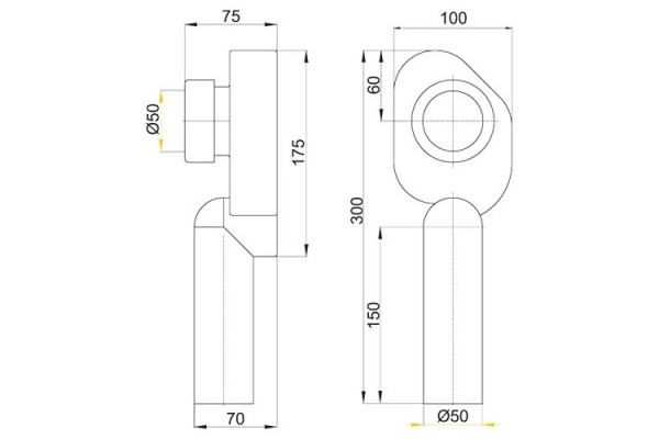 Cифон для писсуара Alca Plast А45C, вертикальный