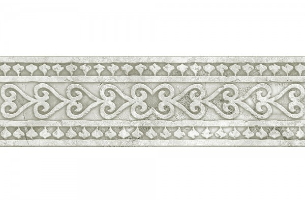 Бордюр Absolut Keramika Cenefa Papiro B White 9,8х29,8